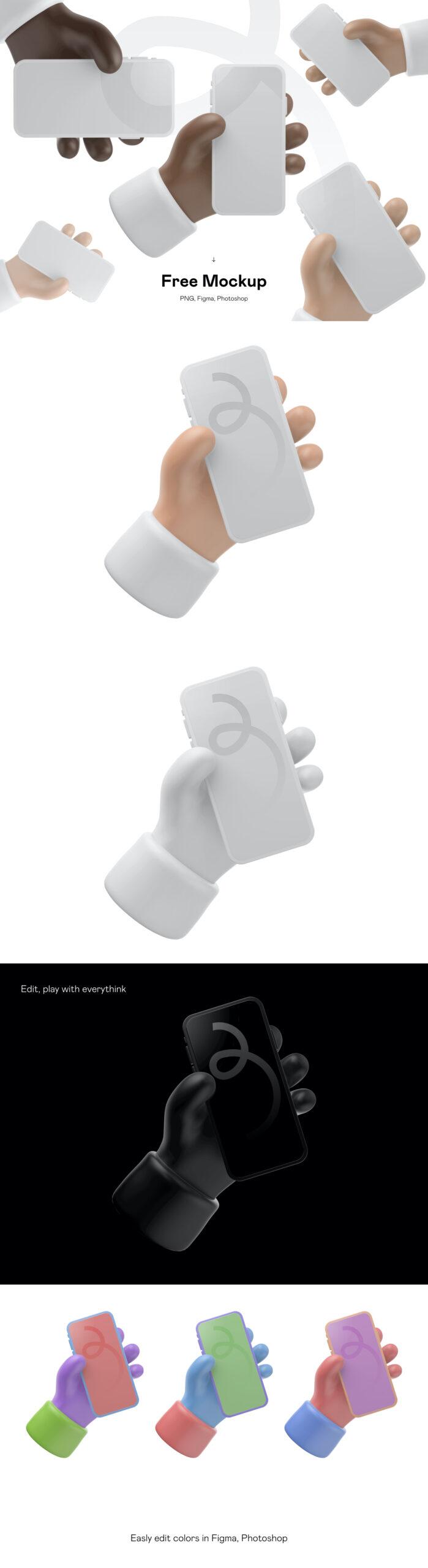 3D卡通iPhone 12手机样机插图
