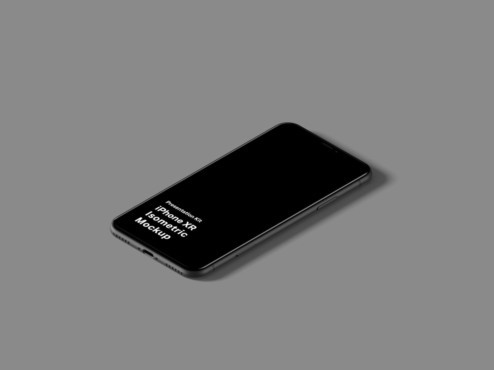 iPhone XR手机等距样机插图1