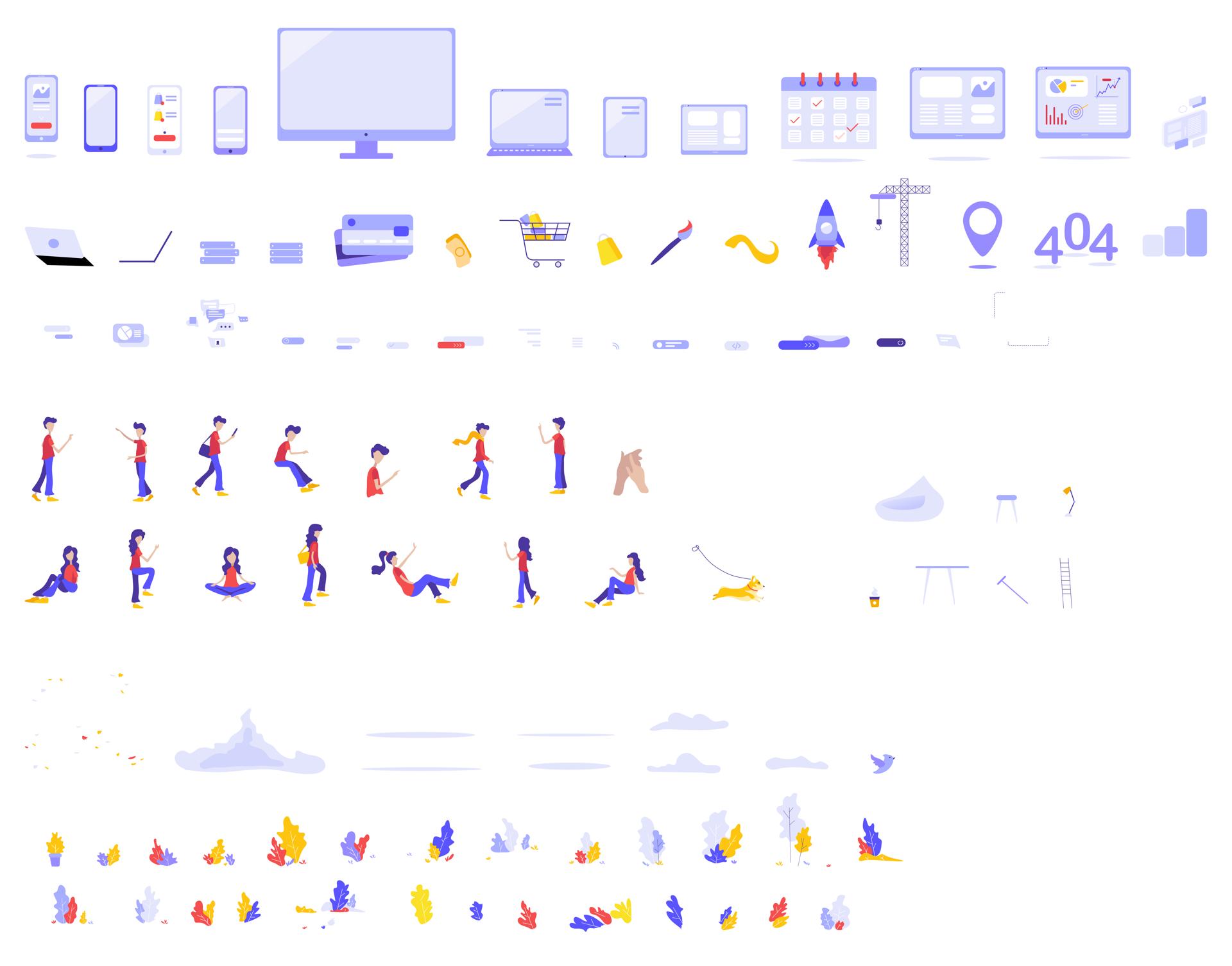 Pulse矢量插画演示套件插图