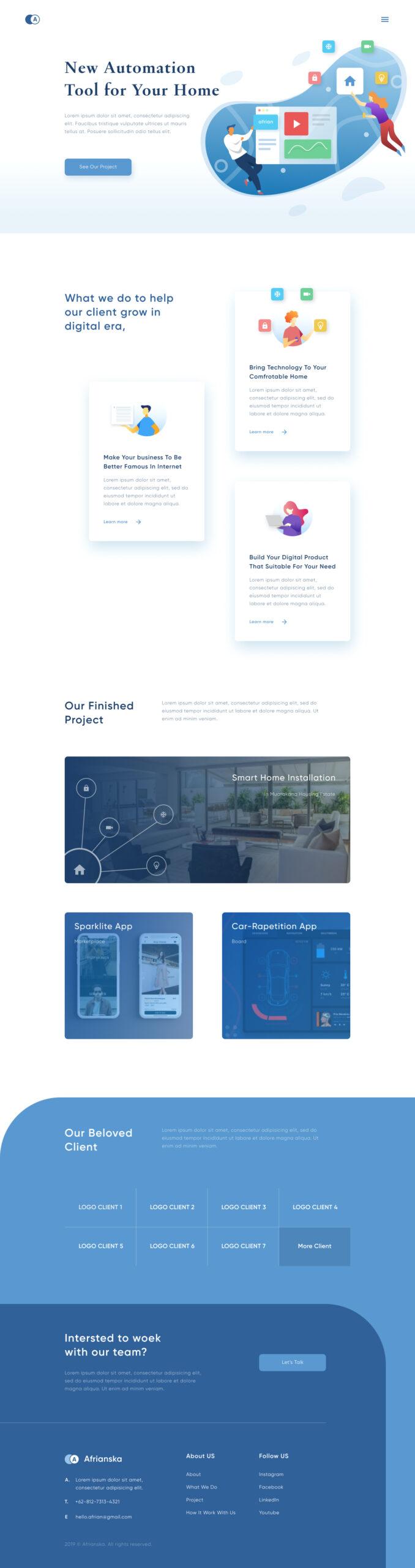 智能家居品牌网站着陆页插图