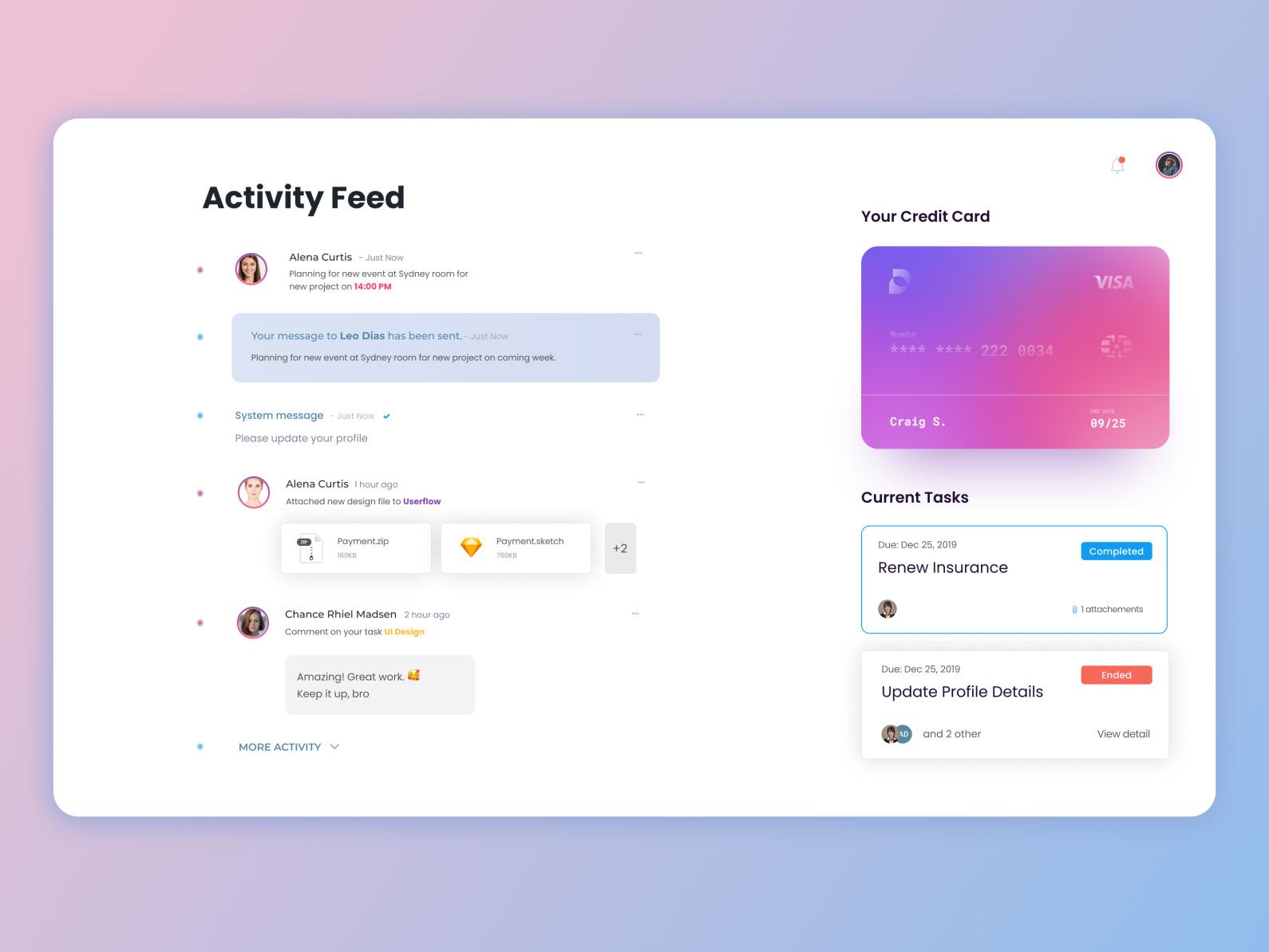 活动/日程任务用户界面UI模板插图