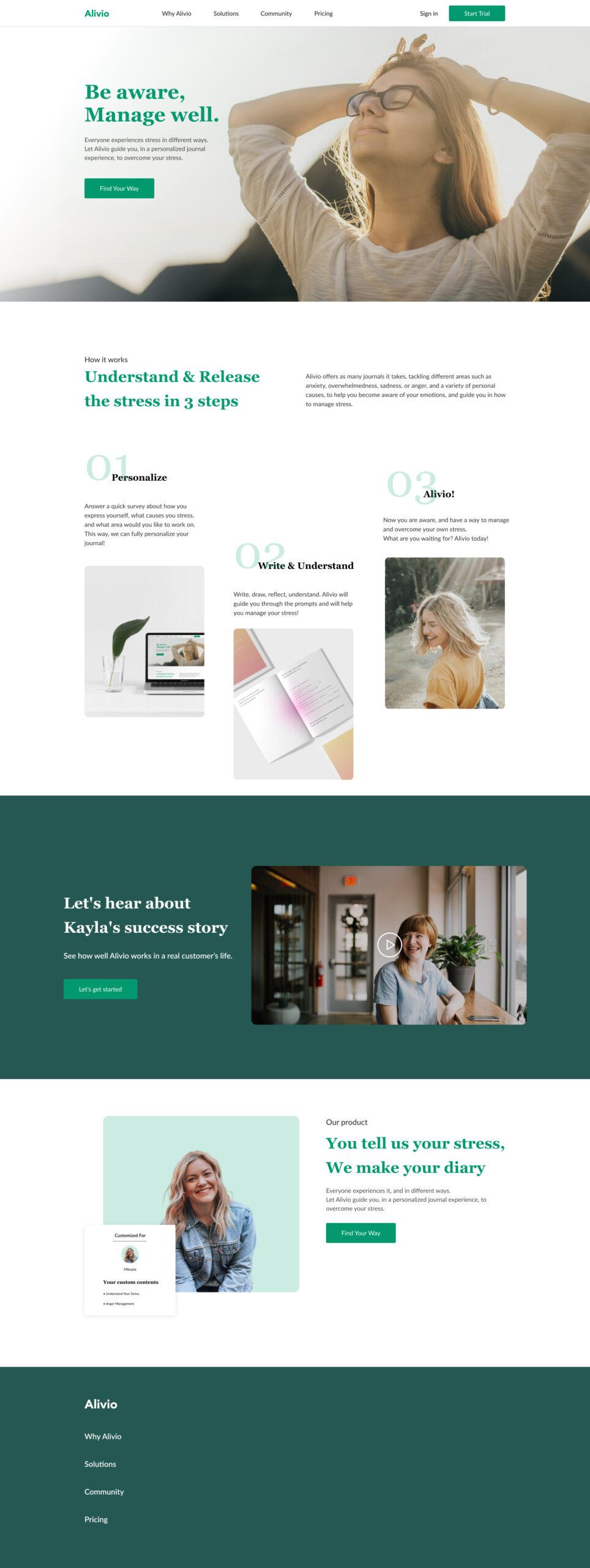Alivio现代网站设计着陆页模板插图