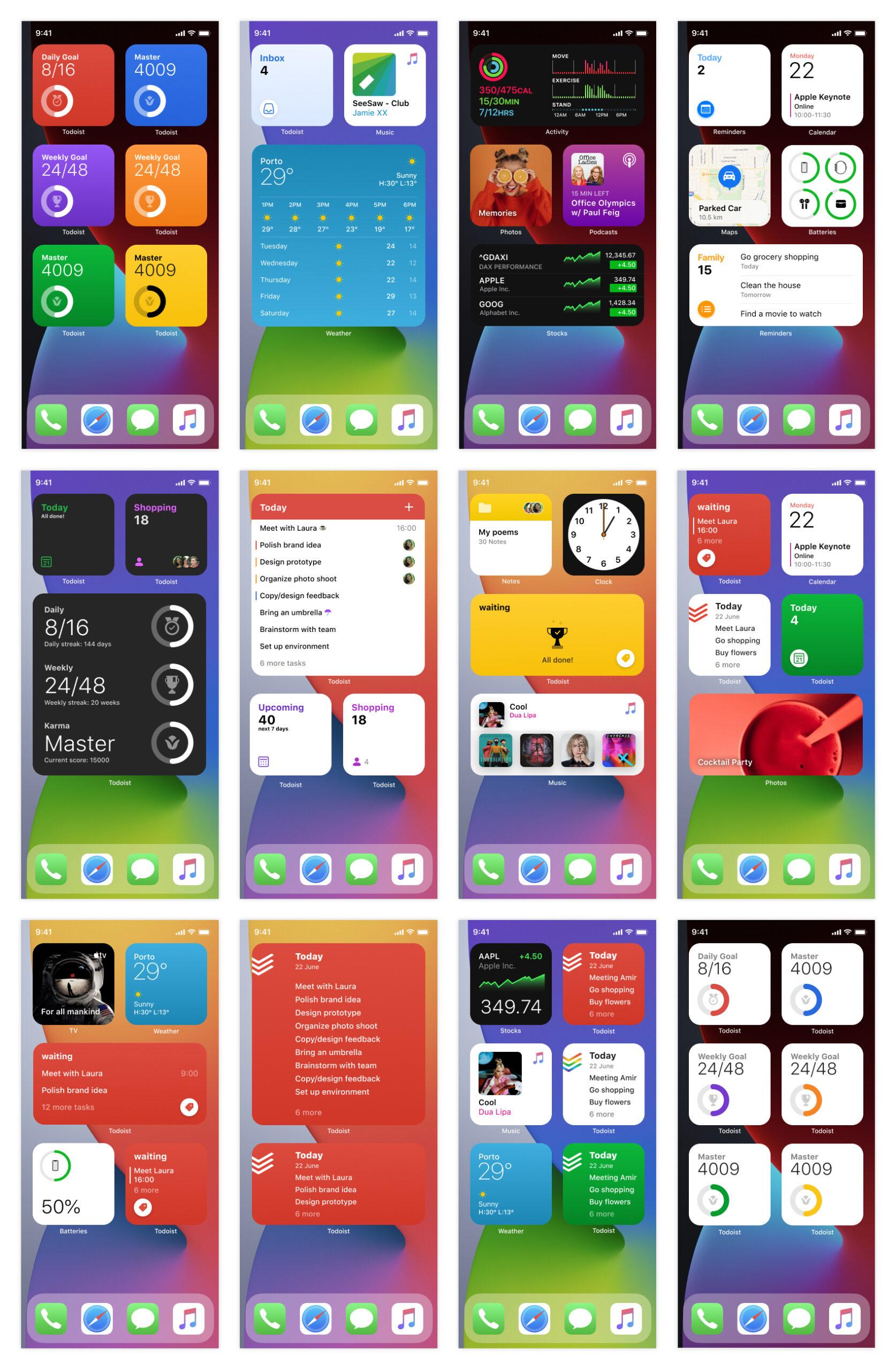 Apple系列产品系统小挂件/小组件用户界面套件插图2