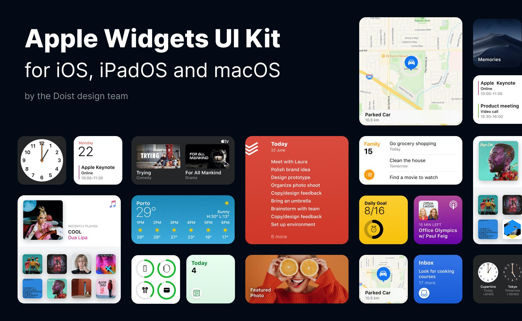 Apple系列产品系统小挂件/小组件用户界面套件插图