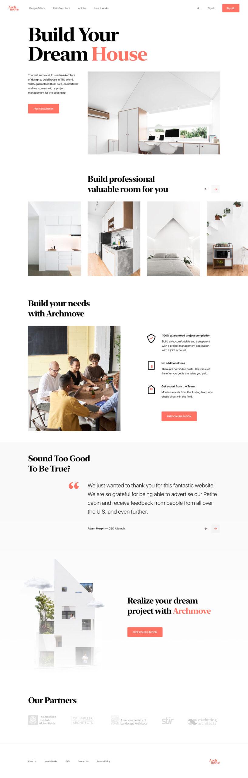 适用于室内装修品牌网站着陆页插图