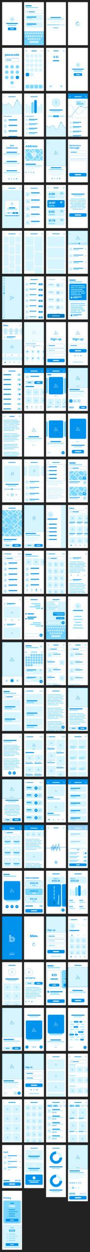 Bloo免费线框图设计UI套件插图