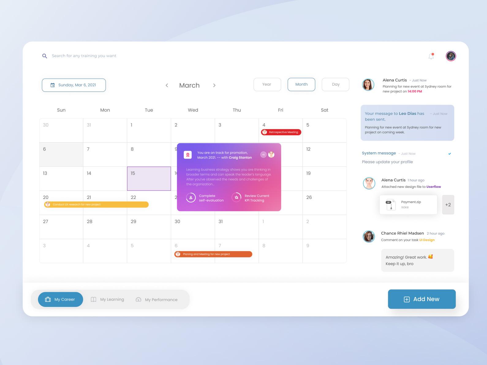 日历事件用户界面UI设计模板插图