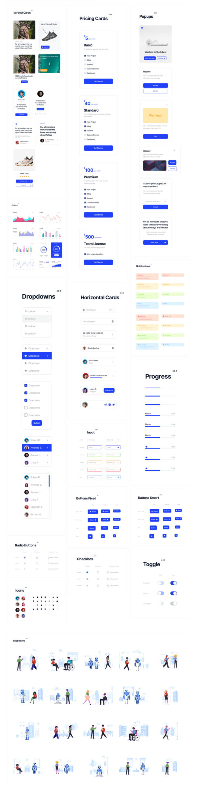 Deca免费用户界面设计UI套件插图