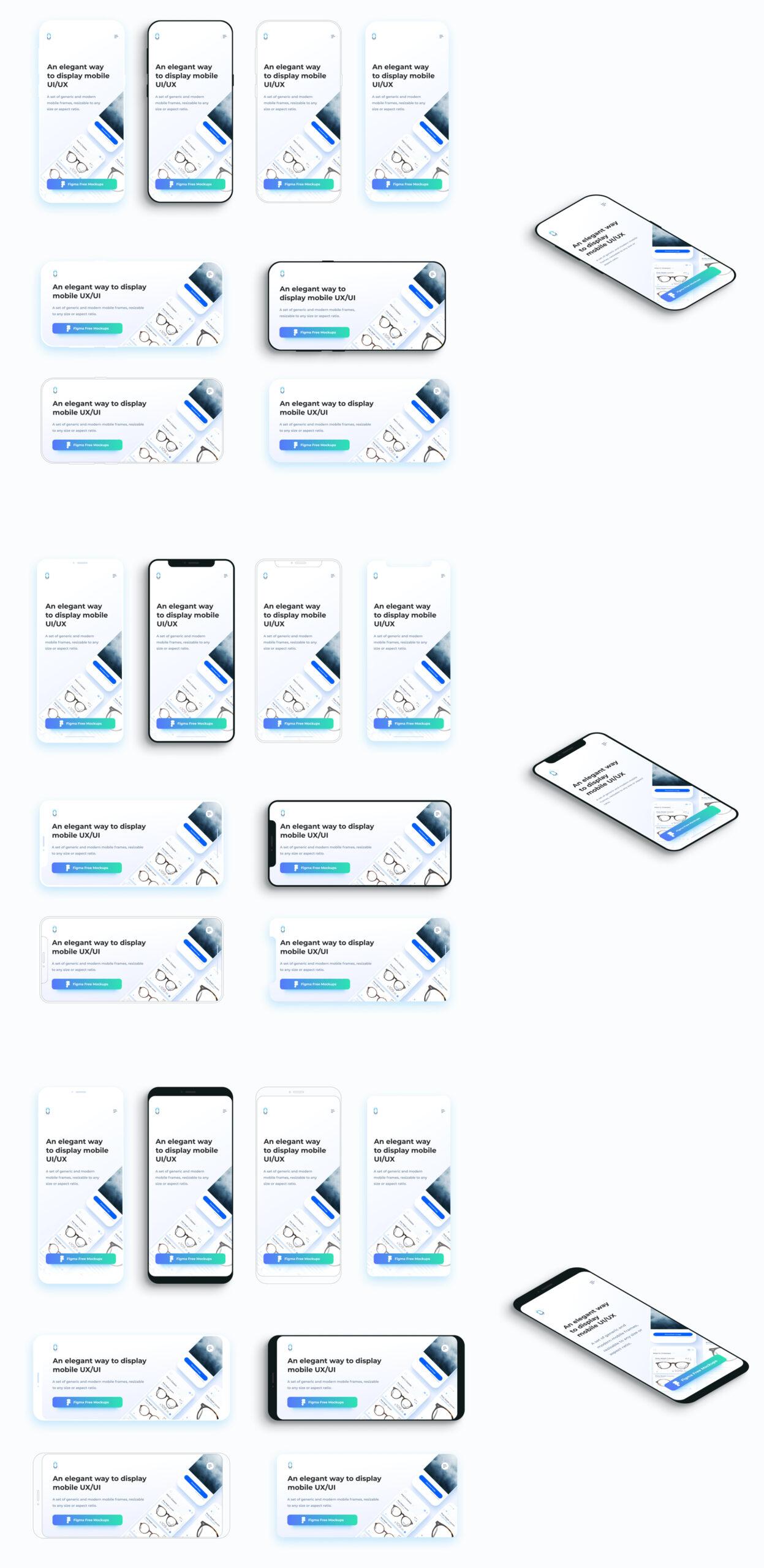 扁平风APP应用&移动网站设计预览样机插图