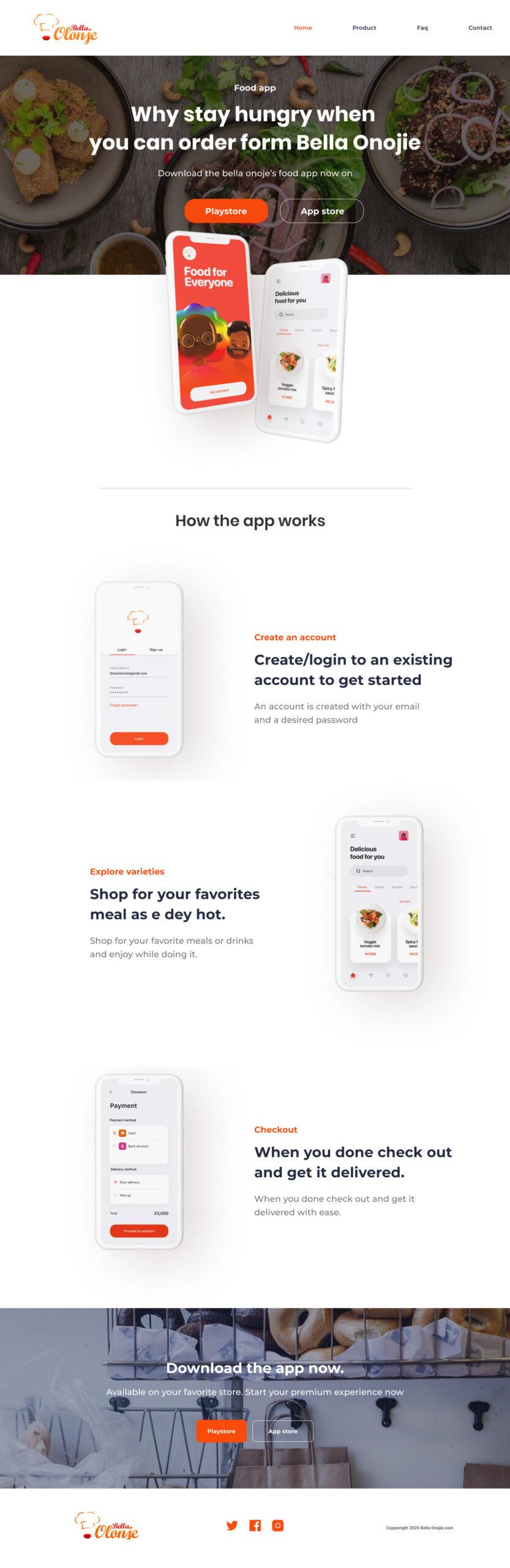 食品品牌美食类APP官网着陆页插图