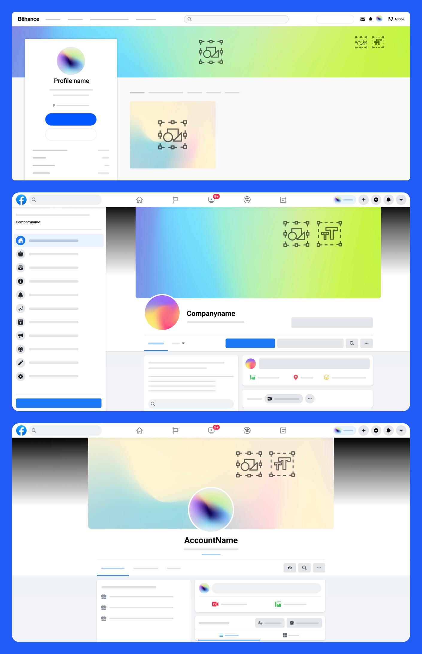 免费社交媒体设计套件插图