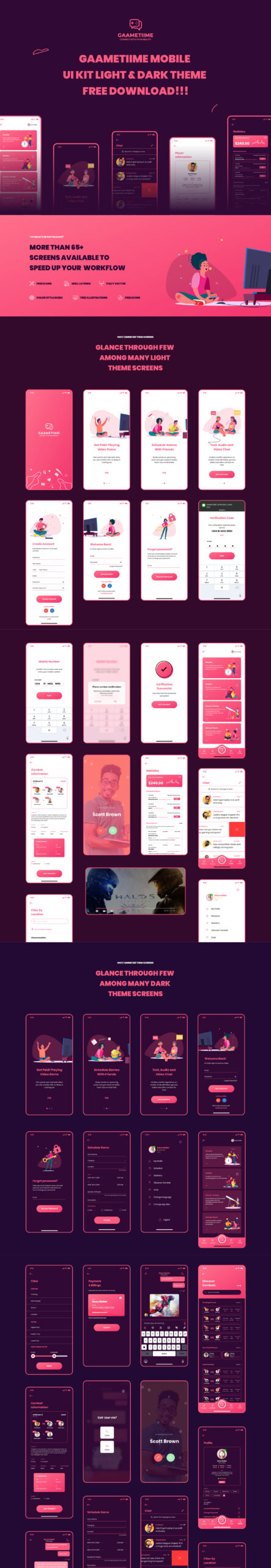 Gaametiime免费UI工具包插图