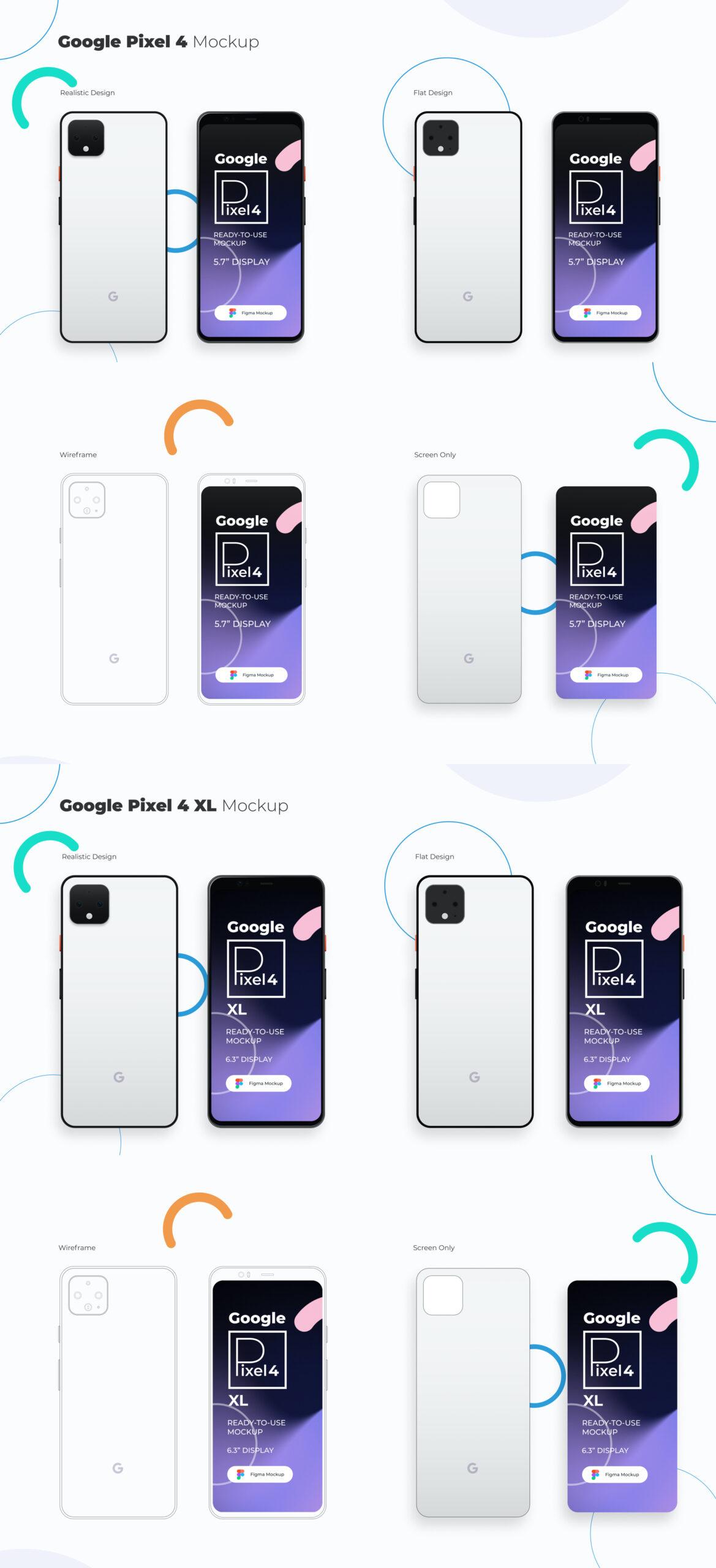 谷歌手机Pixel 4/4 XL样机插图