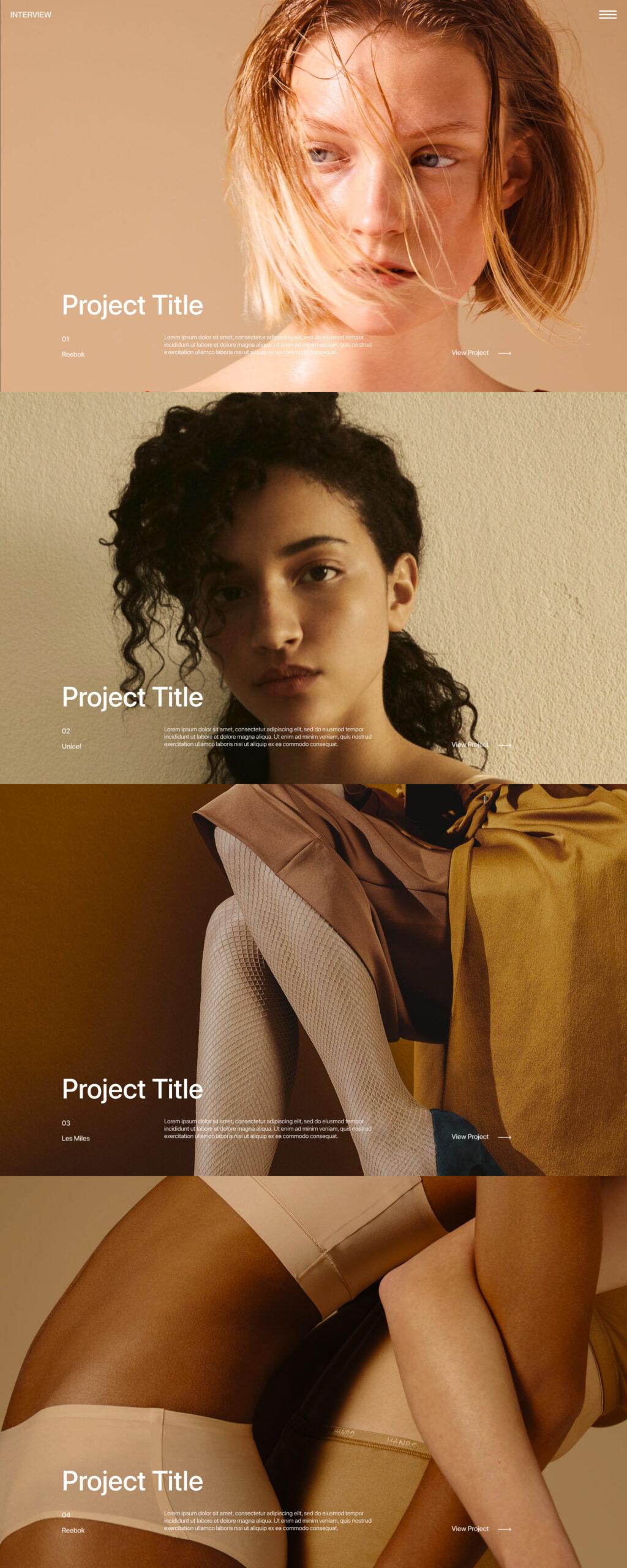 访问网页设计作品集免费着陆页设计插图1