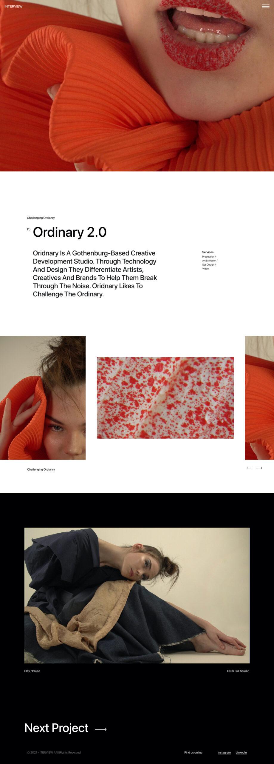 访问网页设计作品集免费着陆页设计插图2