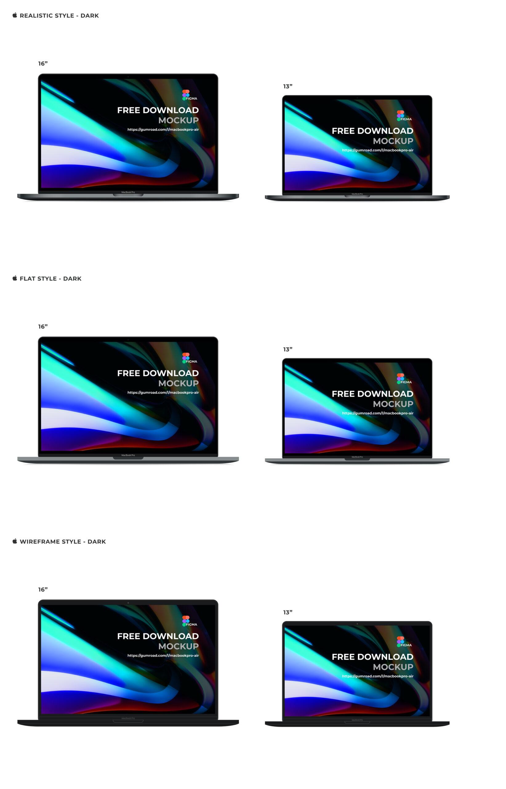 苹果笔记本电脑MacBook Pro&Air样机插图1