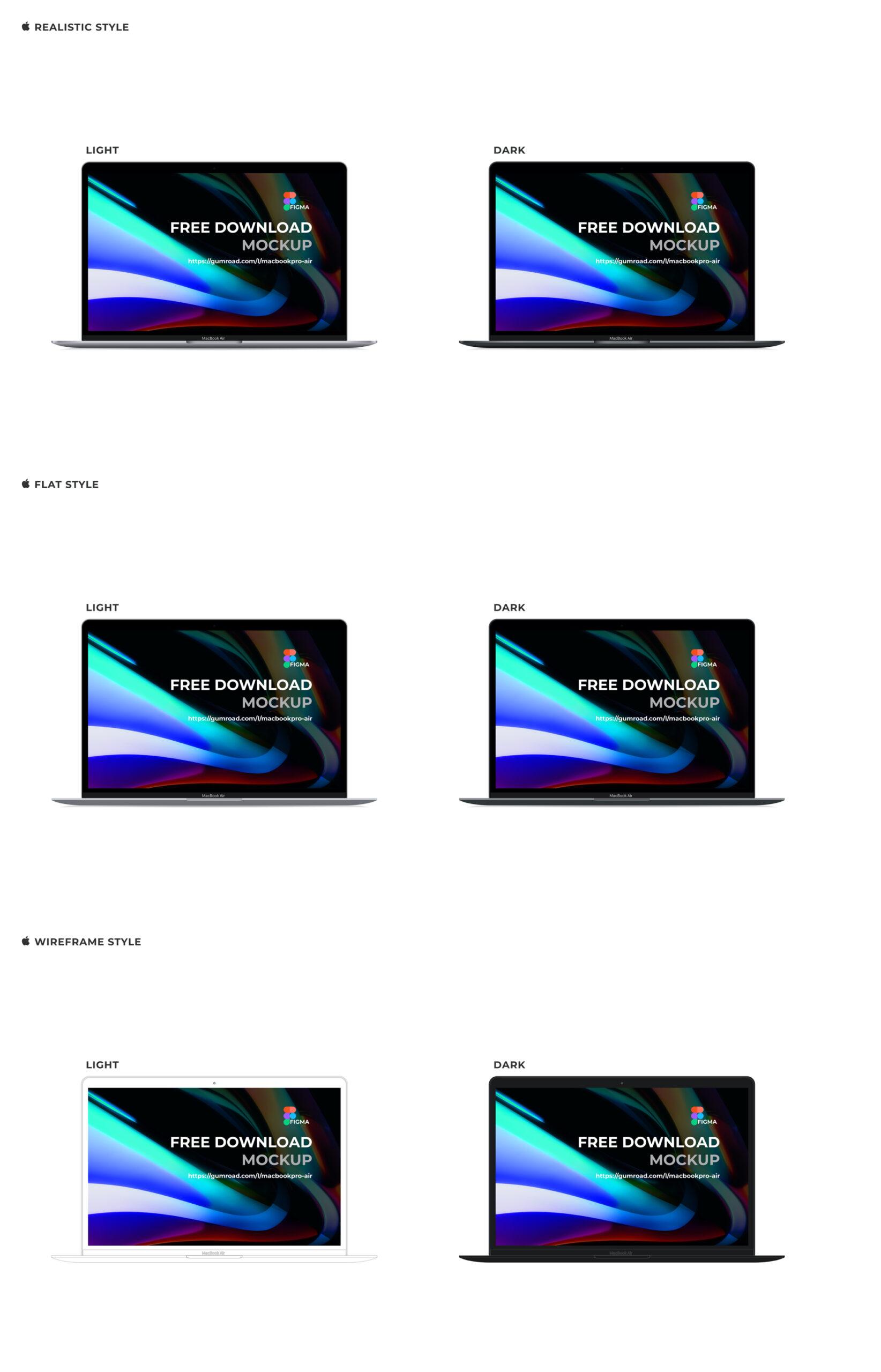 苹果笔记本电脑MacBook Pro&Air样机插图2