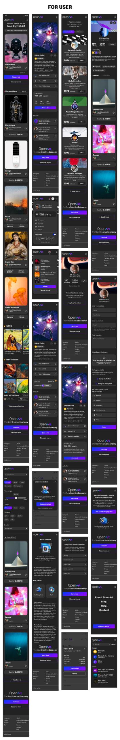 开放艺术-NFTs用户界面UI设计免费套件插图3