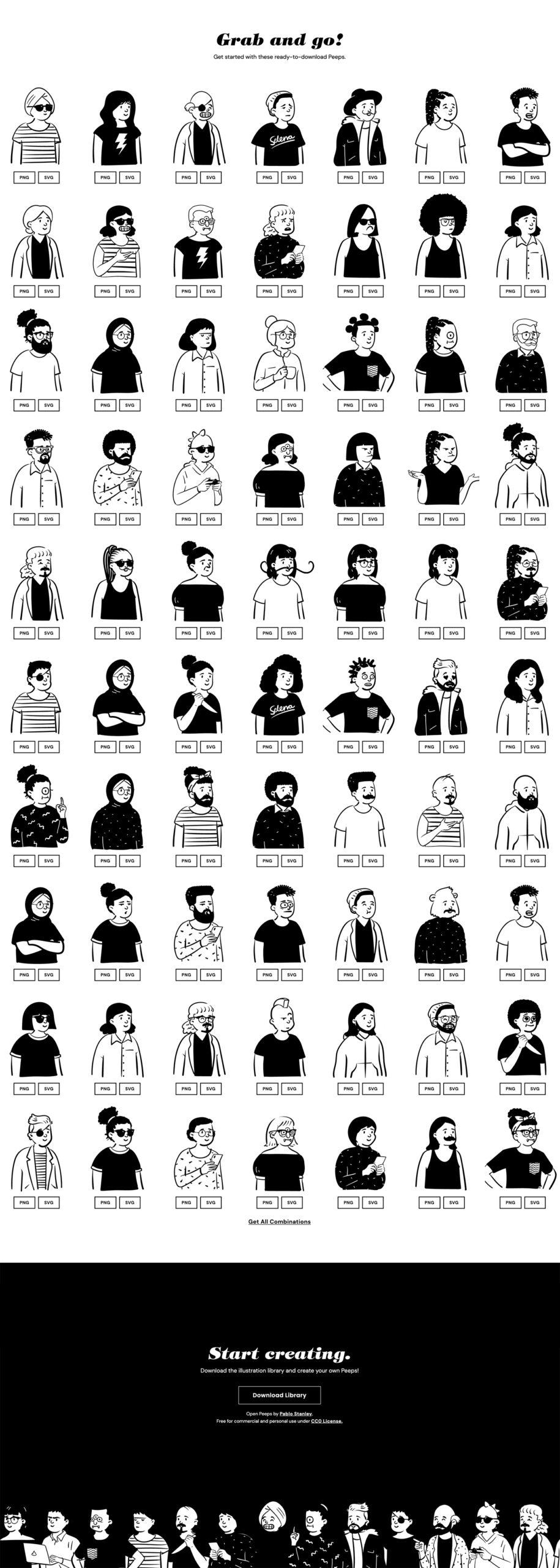 Open Peeps-涂鸦插画库库插图