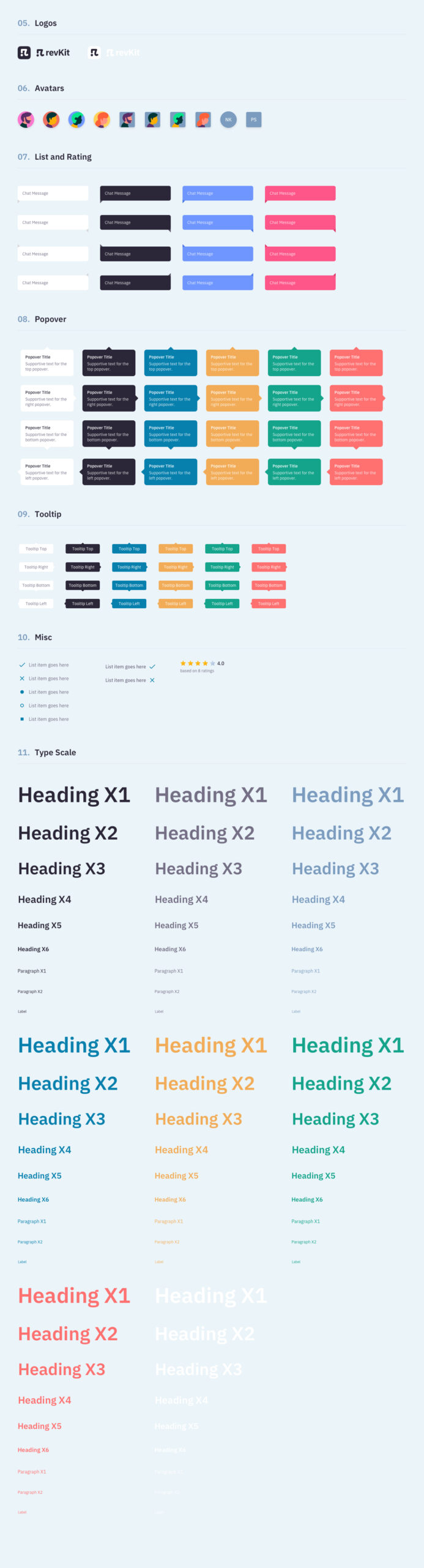 Revkit设计系统用户界面工具包插图3