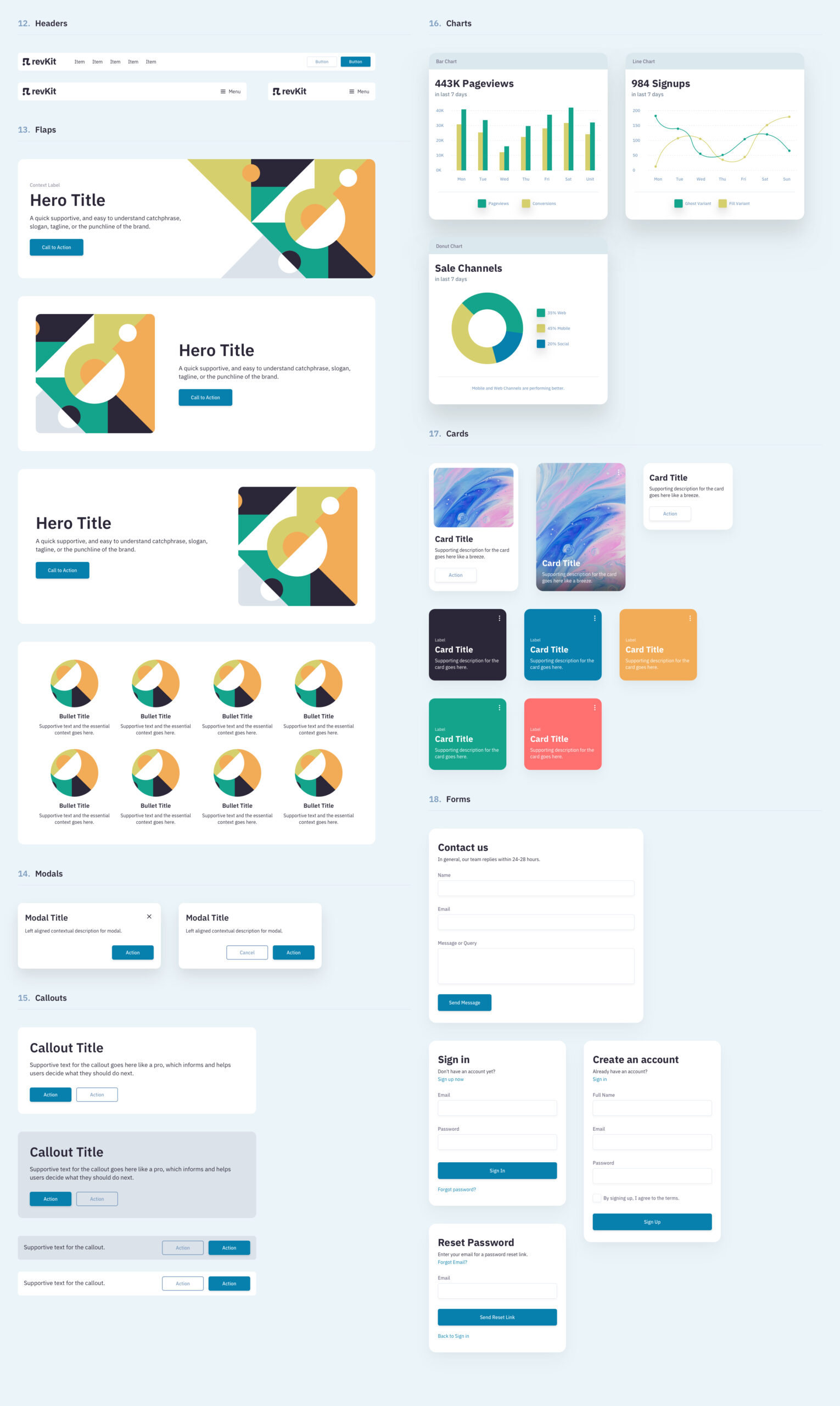 Revkit设计系统用户界面工具包插图