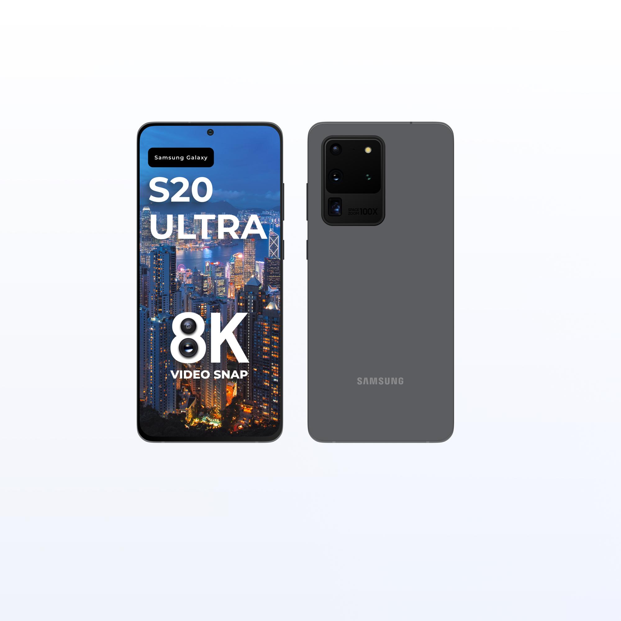 三星Galaxy S20 Ultra手机样机插图2