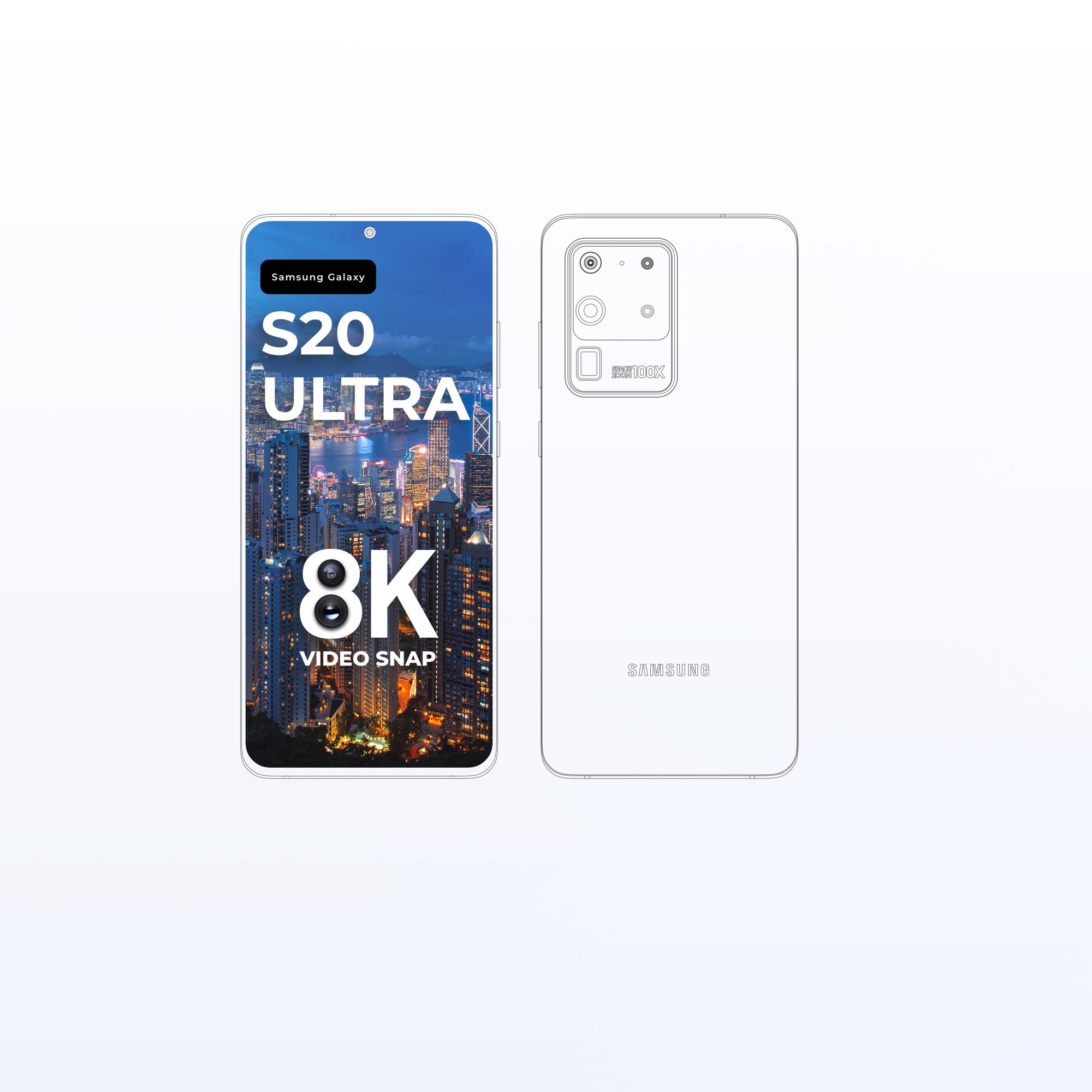 三星Galaxy S20 Ultra手机样机插图3