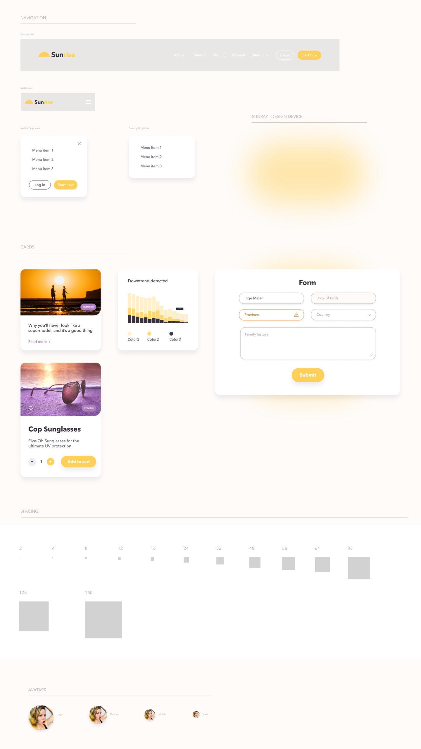 Sunrise免费设计系统插图2