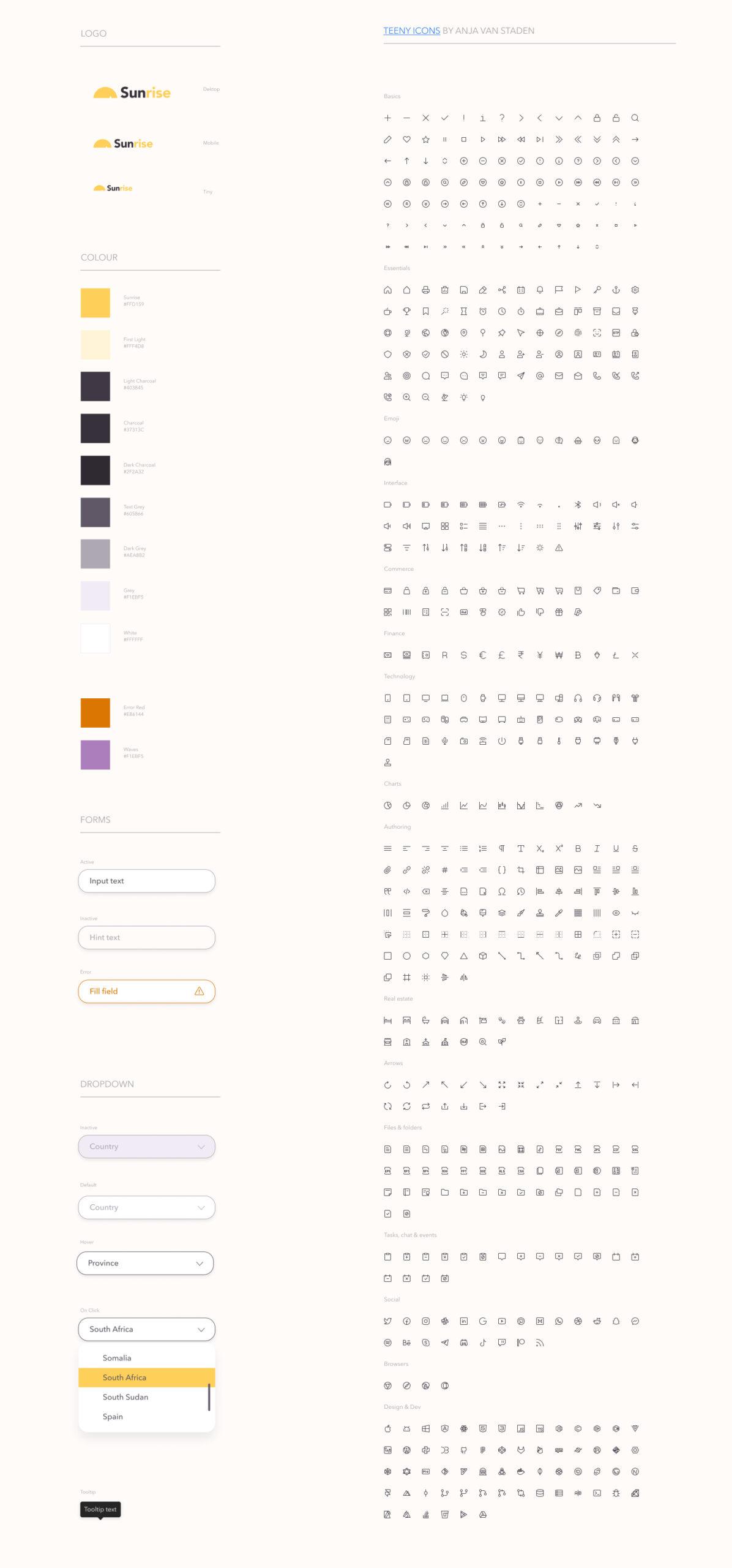 Sunrise免费设计系统插图