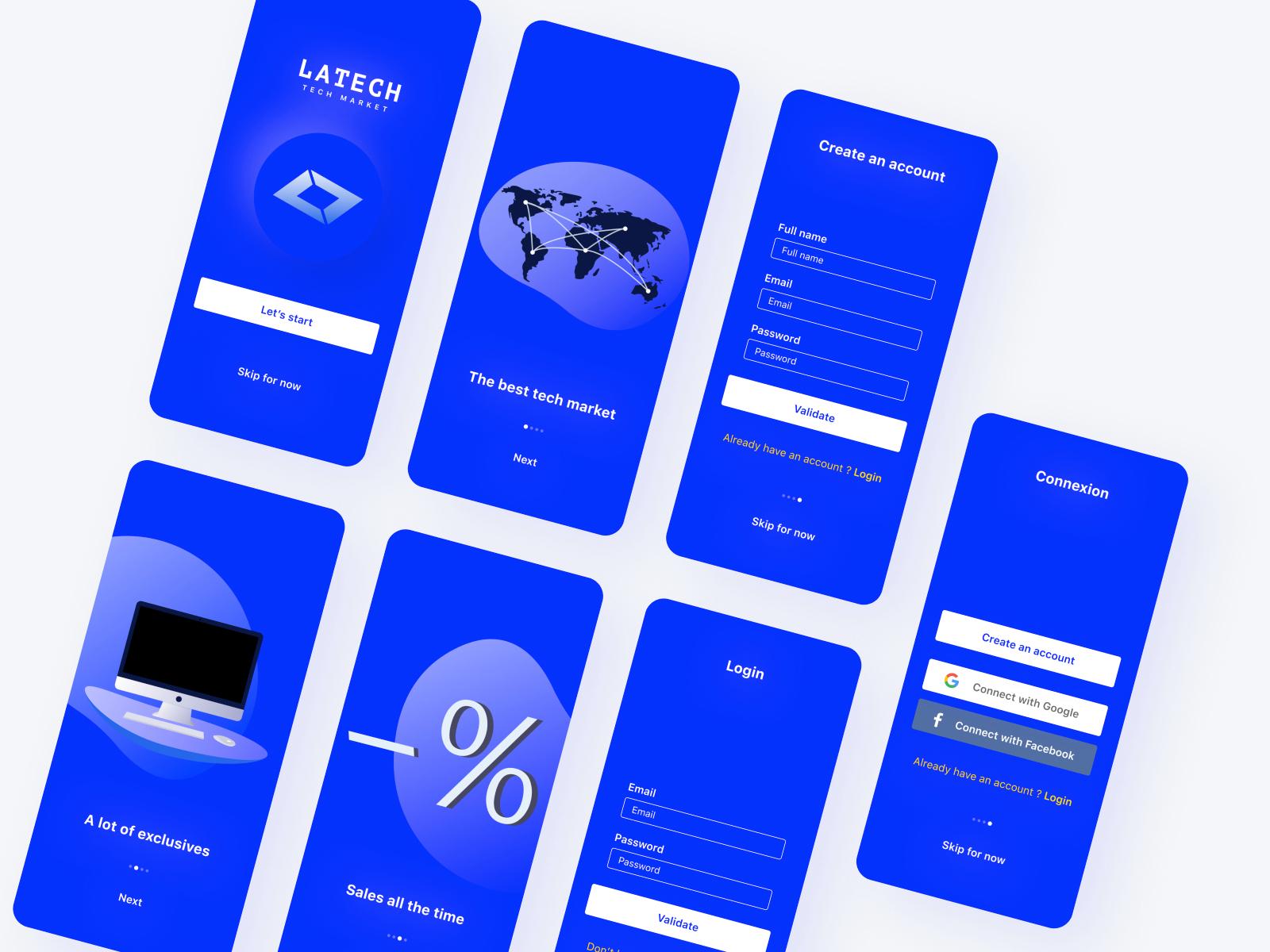 技术市场APP用户界面设计套件插图
