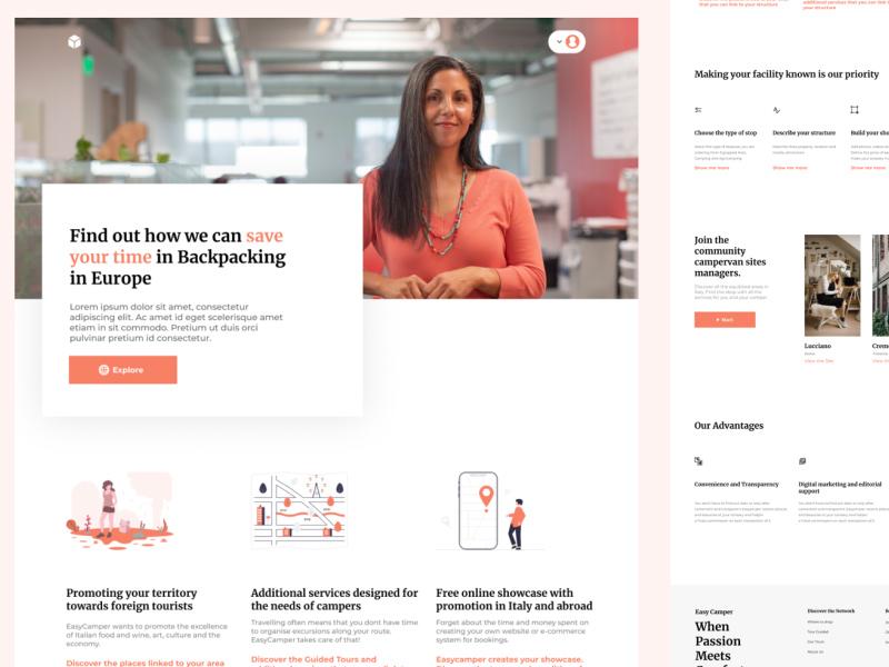 商业公司网站设计模板插图